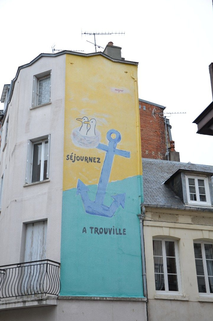 Source d'inspiration - Mur peint Séjournez à Trouville