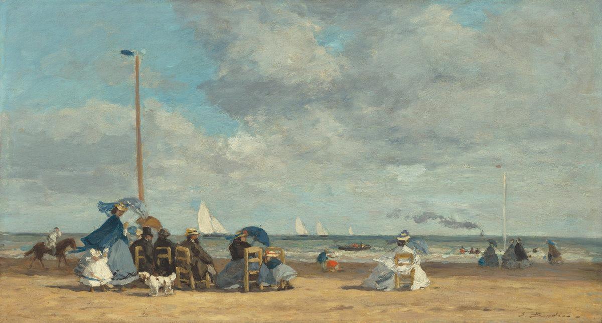 Trouville source d'inspiration pour Eugène Boudin - Peinture de la plage