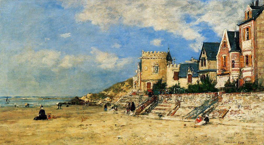 Plage-Trouville-sur-Mer-peinture