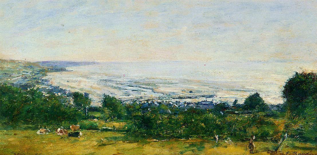 Peinture sur les hauteurs de Trouville artiste Eugène Boudin
