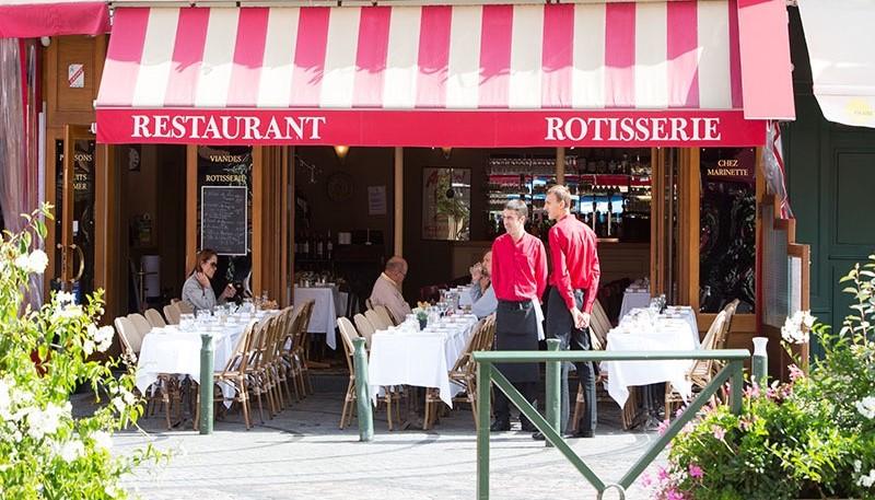 Terrasse brasserie Trouville