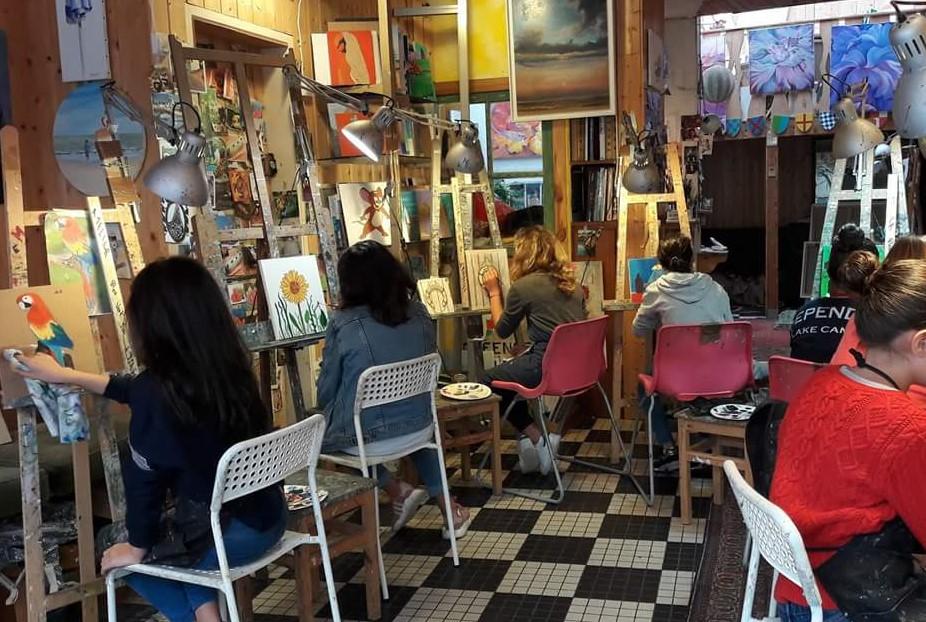Atelier peinture artistes Trouville