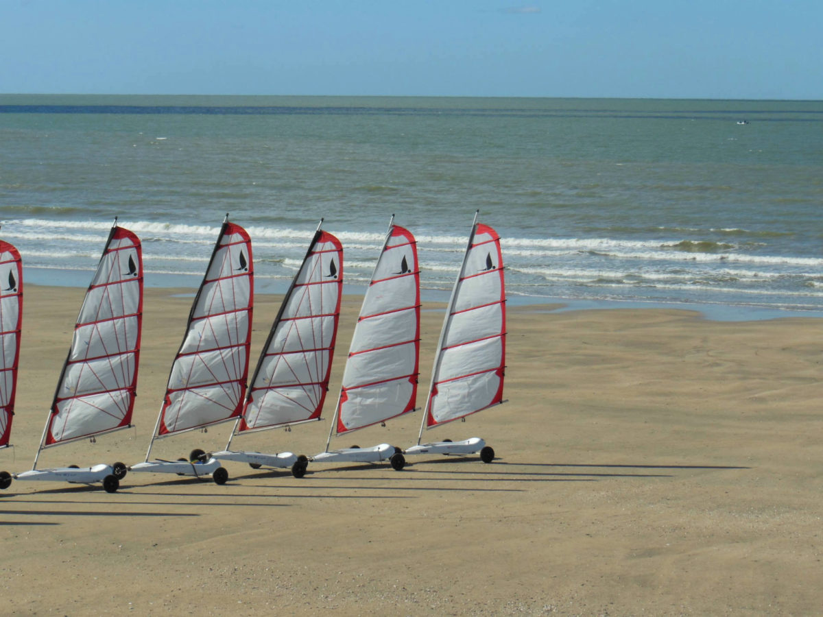 Char à voile plage de Trouville-sur-Mer