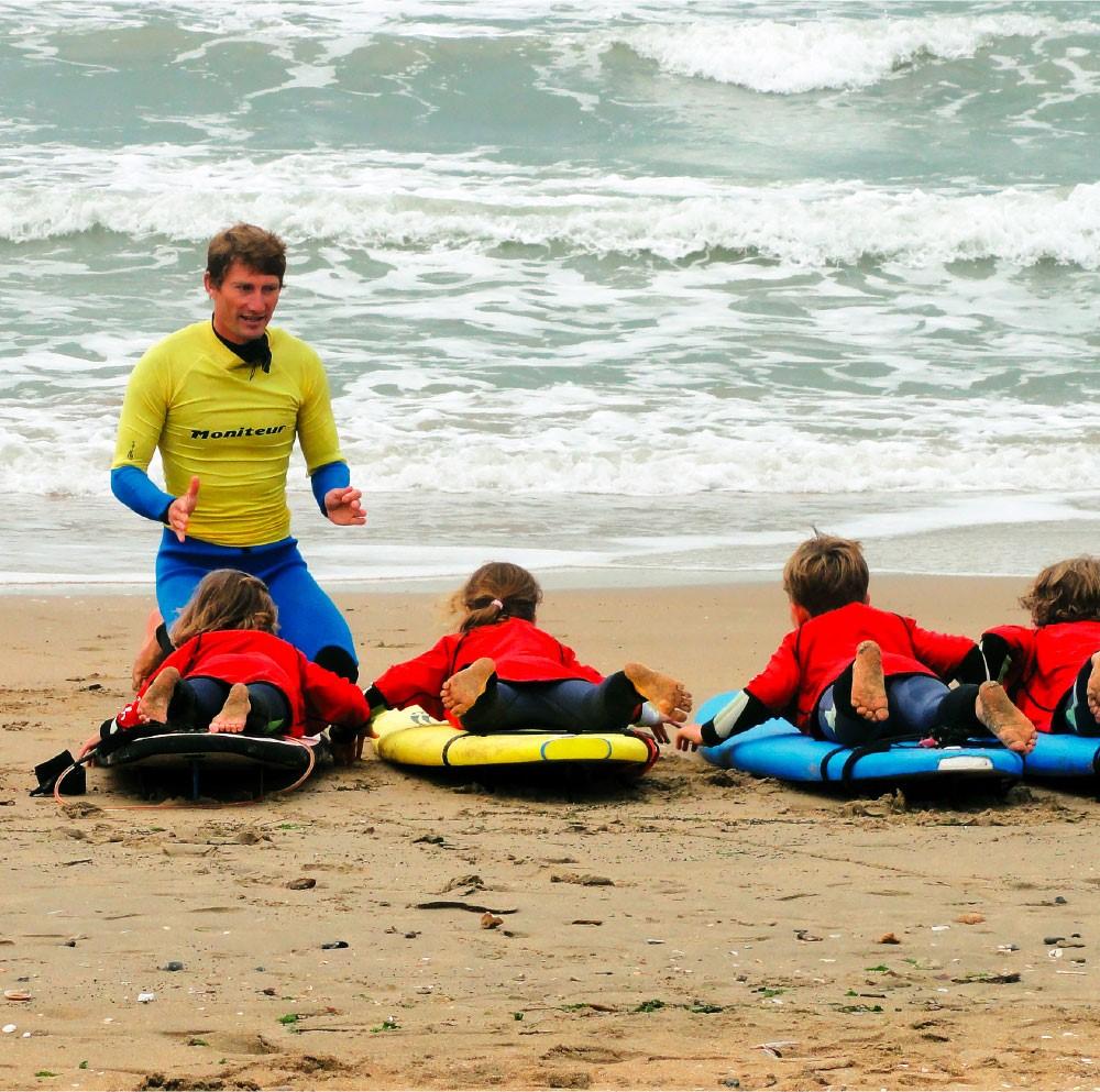 Cours de surf enfants