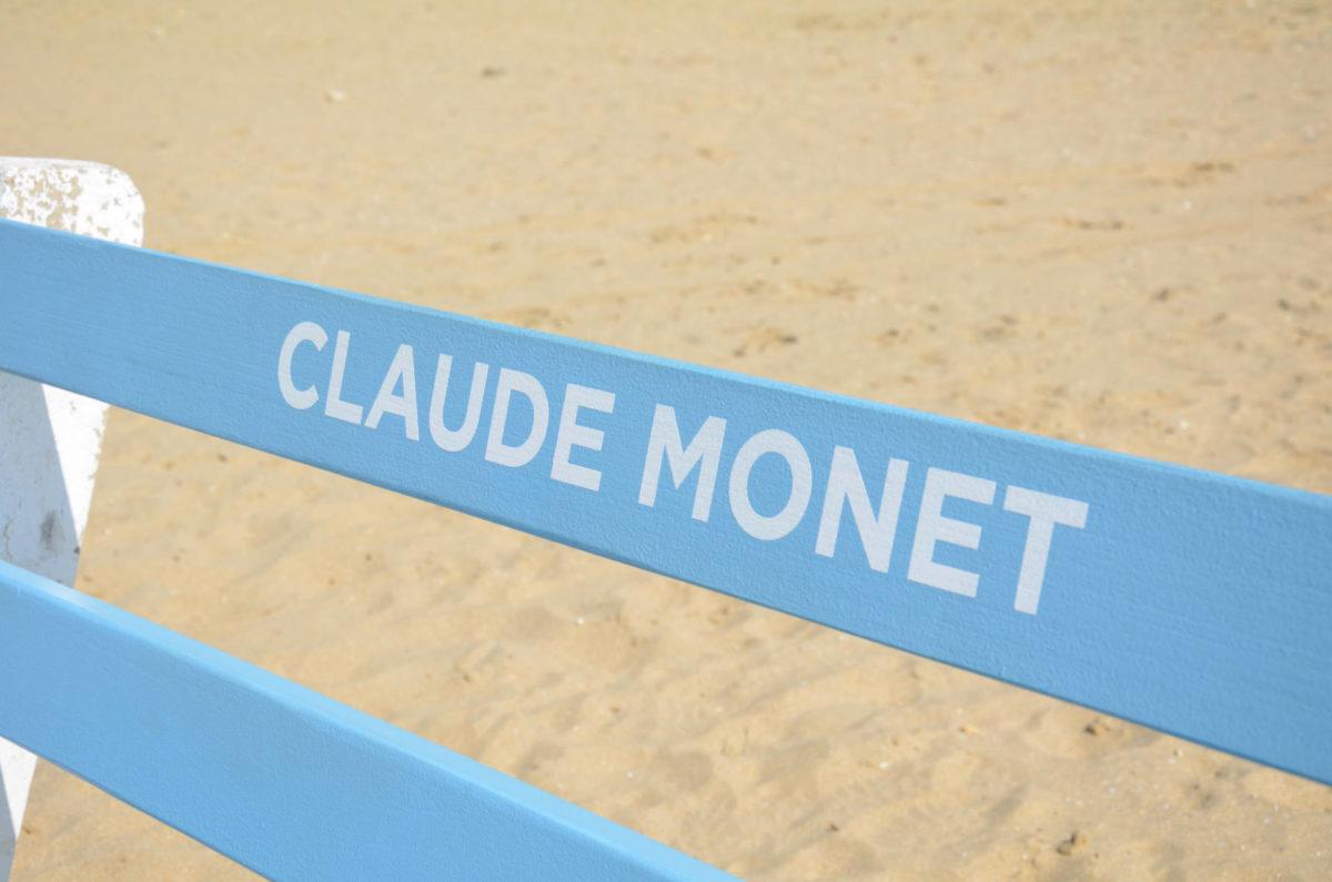 Banc Claude Monet à Trouville-sur-Mer
