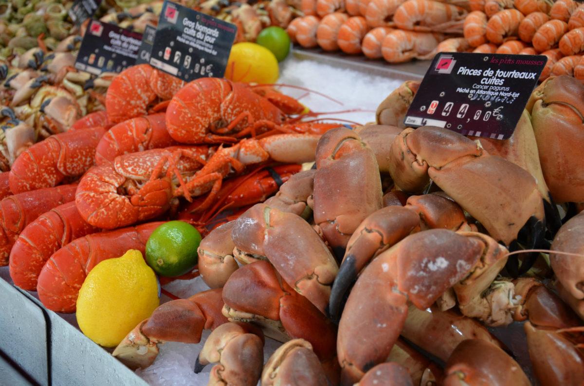 Etals du marché aux poissons