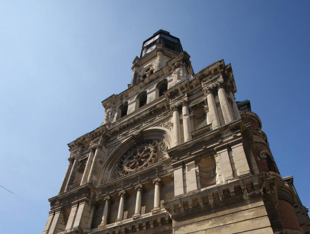 Façade de l'église Bon Secours - églises trouvillaises