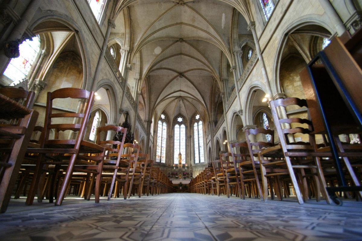 Intérieur de l'église Bon-Secours - églises trouvillaises