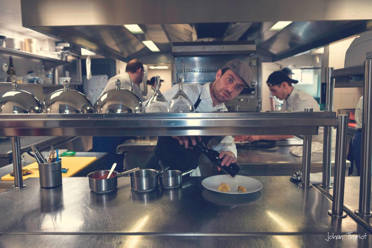 Johan Thyriot en cuisine