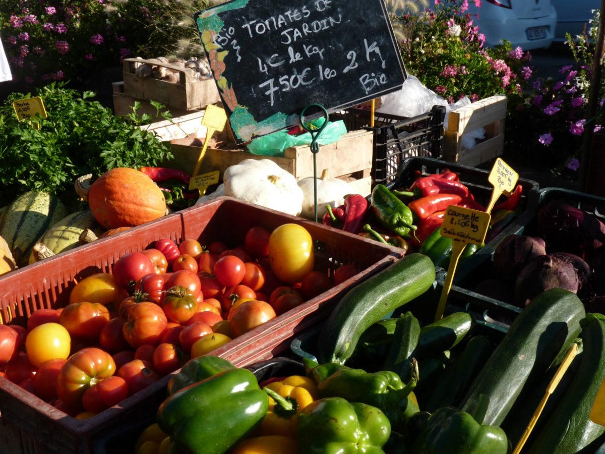 Légumes sur le marché de Trouville