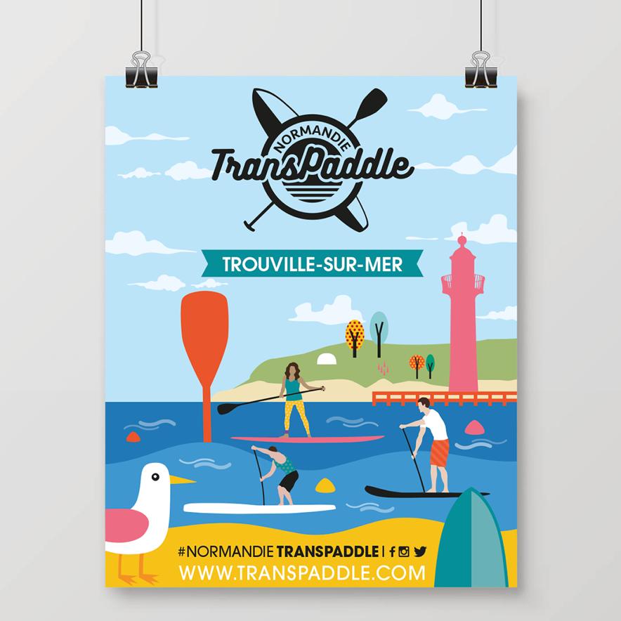 Affiche Normandie TransPaddle