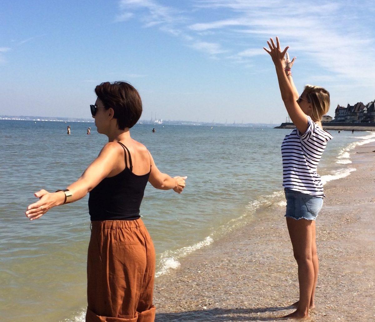 Séance sophrologie et bien-être sur la plage