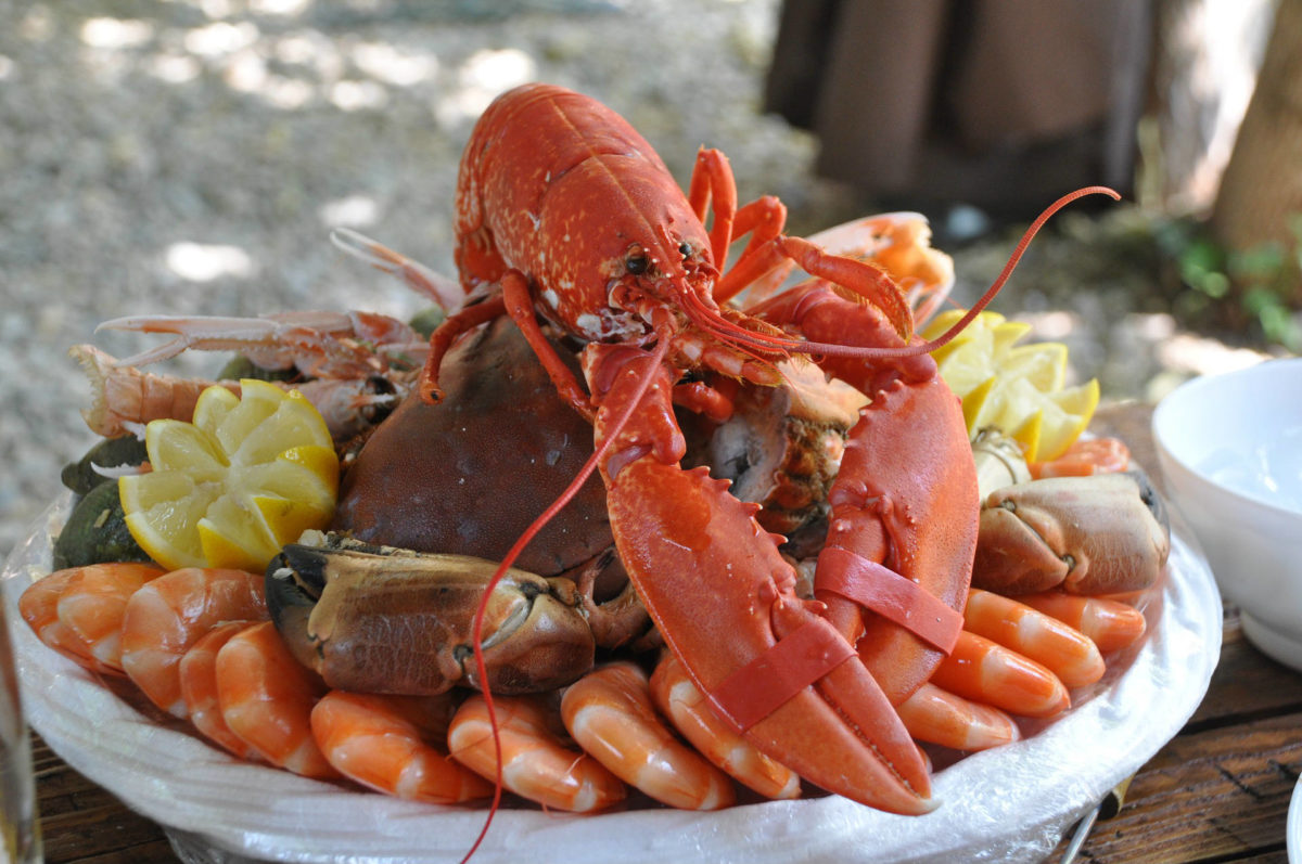 Saveurs de la mer - Plateau crevettes crabe homard