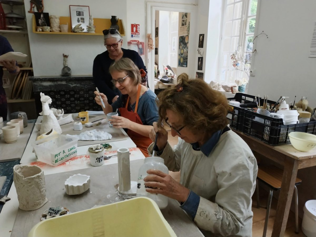 Emaillage Raku Atelier Autres Terres trouville ceramique