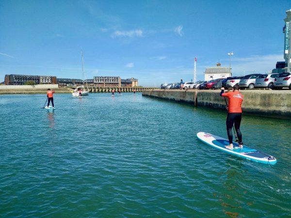 Balade en stand-up paddle sur la Touques